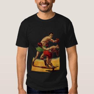 Vintage Sporten, Boksers die Strijd in dozen doen Tshirt