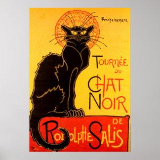 Vintage Tournee DE Chat Noir - Zwarte Kat Poster