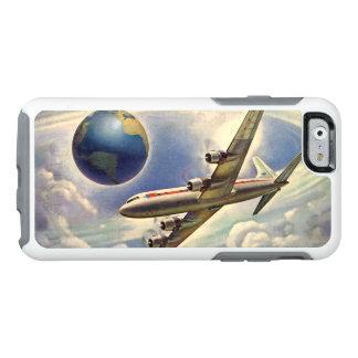 Vintage Vliegtuig die rond de Wereld in Wolken OtterBox iPhone 6/6s Hoesje