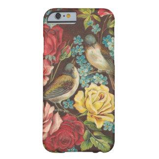 Vintage Vogels en Bloemen Barely There iPhone 6 Hoesje