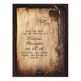 vintage zeer belangrijk slot oud sparen de briefkaart