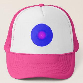 Vinyle bleu/rose de casquette de camionneur,