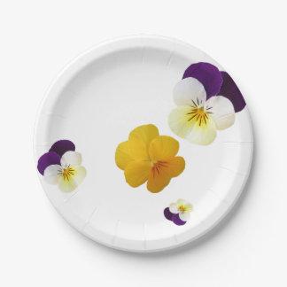 Violettes Assiettes En Papier