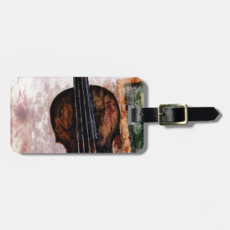 violon de violon d'instrument de musique étiquette à bagage