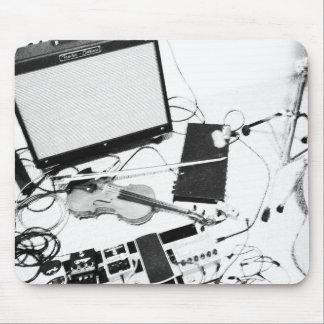 Violon électrique tordu Mousepad Tapis De Souris
