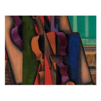 Violon et guitare par Juan Gris Carte Postale