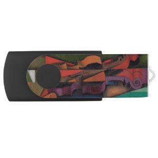 Violon et guitare par Juan Gris Clé USB 2.0 Swivel