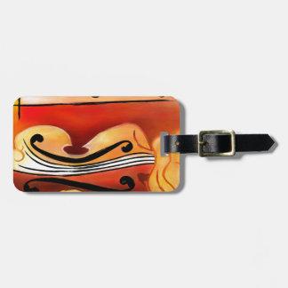 Vioselinna - beauté soutenue par violon étiquette à bagage