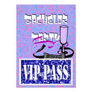 Vip van de vrijgezel blauwe partijuitnodiging 12,7x17,8 uitnodiging kaart