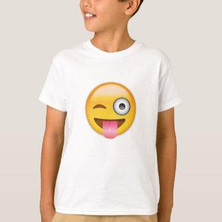 Visage avec coincés la langue et l'oeil Emoji de T-shirt