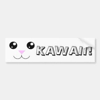 Visage d'animal de Kawaii Autocollant De Voiture