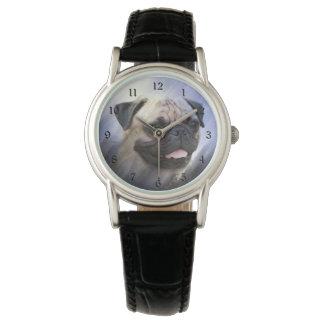 Visage de carlin montres bracelet