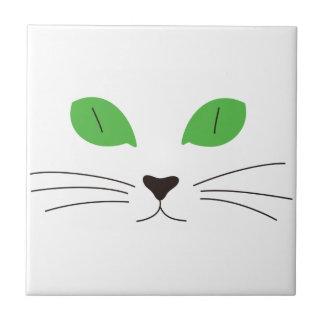 Visage de chat petit carreau carré