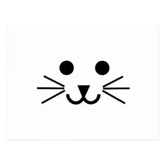 Visage de chat cartes postales