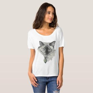 Visage de chat siamois t-shirt