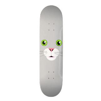 Visage de chat skateboard old school 18,1 cm