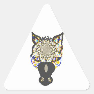 Visage de cheval autocollant en triangle