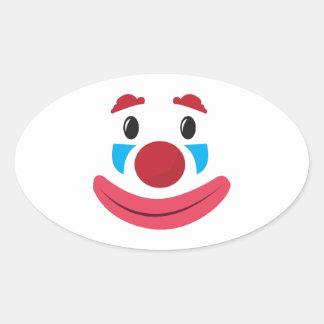 Visage de clown sticker ovale