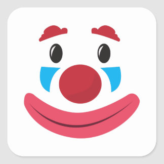 Visage de clown sticker carré
