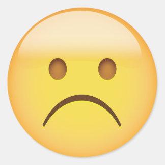 Autocollants stickers smiley triste personnalis s - Sourcil visage rond ...