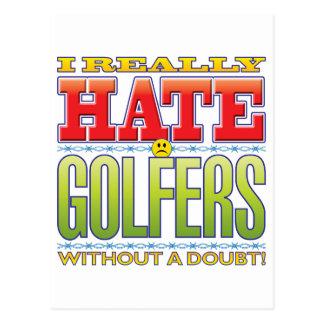 Visage de haine de golfeurs cartes postales
