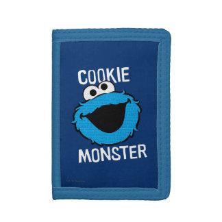 Visage de motif de monstre de biscuit