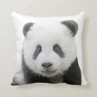 Visage de panda coussin