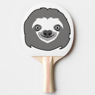 Visage de paresse raquette de ping pong