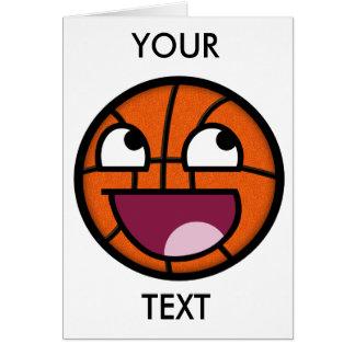 Visage de smiley de basket-ball carte