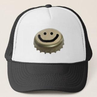 Visage de smiley de casquette de bouteille à bière