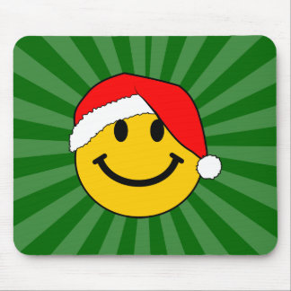 Visage de smiley de Père Noël de Noël Tapis De Souris