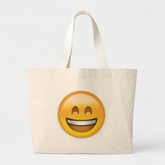 Visage de sourire avec la bouche ouverte et yeux sac en toile jumbo