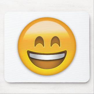 Visage de sourire avec la bouche ouverte et yeux tapis de souris