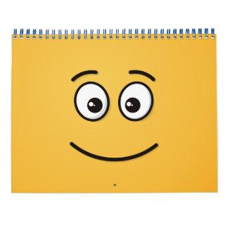 Visage de sourire avec les yeux ouverts calendriers muraux