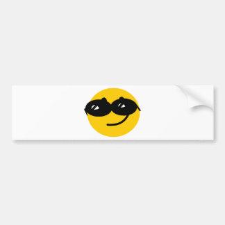 Visage Flirty de smiley de lunettes de soleil Autocollant De Voiture