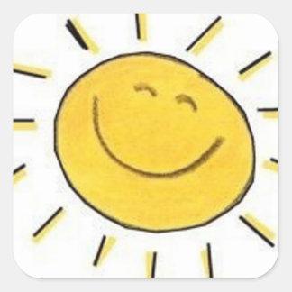Visage heureux Sun - autocollant