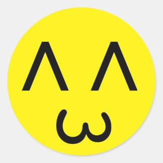 Visage personnalisable 2,0 d'émoticône sticker rond