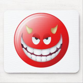 Visage souriant 2 de diable tapis de souris