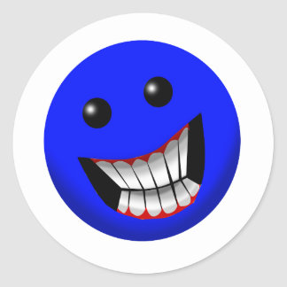 Visage souriant adhésifs ronds