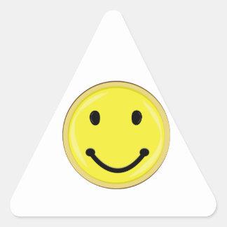 Visage souriant sticker en triangle