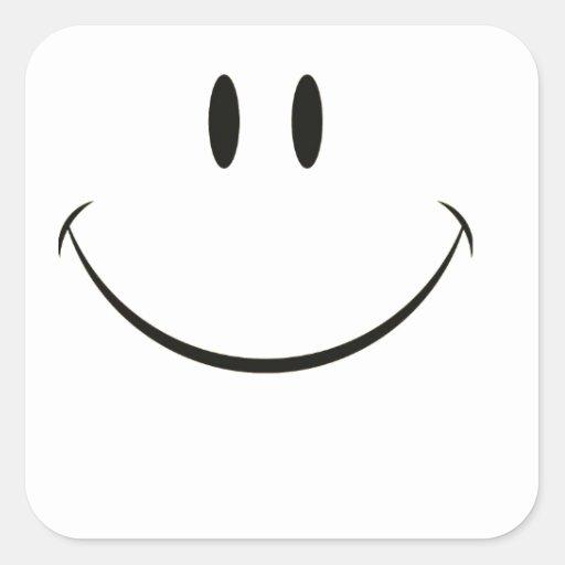 Visage souriant autocollants