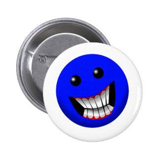 Visage souriant badge rond 5 cm