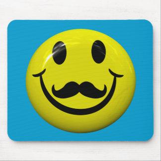 Visage souriant beau avec la moustache Mousepad Tapis De Souris