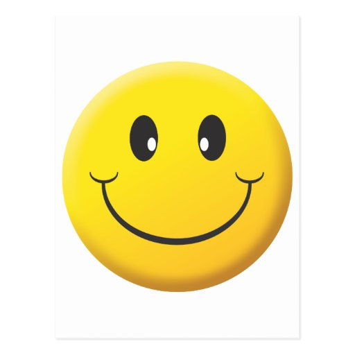 Visage souriant carte postale