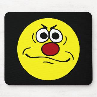 Visage souriant contrarié Grumpey Tapis De Souris