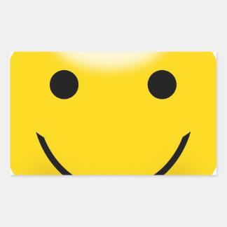 Visage souriant de bonheur sticker rectangulaire