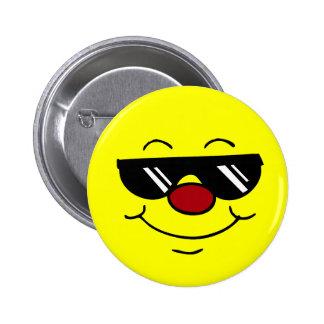 Visage souriant déprimé Grumpey Badge Rond 5 Cm