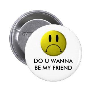 Visage souriant drôle badge rond 5 cm