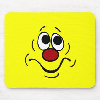 Visage souriant ennuyé Grumpey Tapis De Souris