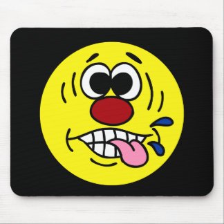 Visage souriant grossier Grumpey Tapis De Souris